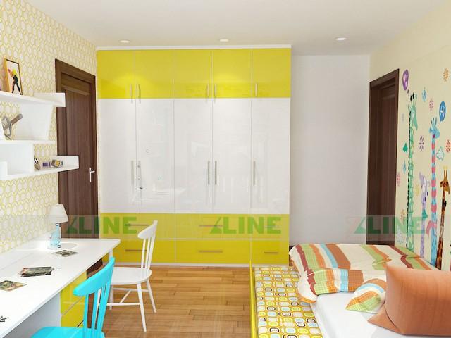 Thiết kế nội thất chung cư Homecity chị Hảo