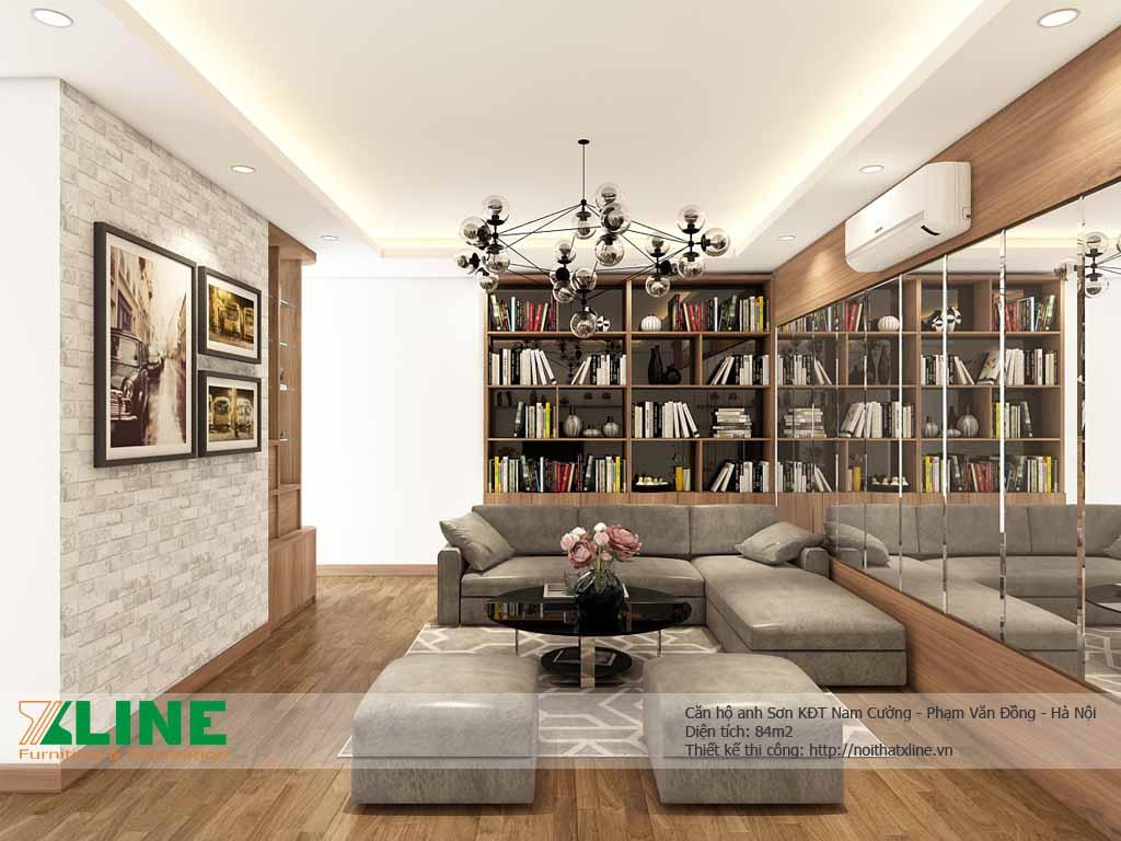 Thiết kế thi công nội thất chung cư cao cấp – Nam Cường