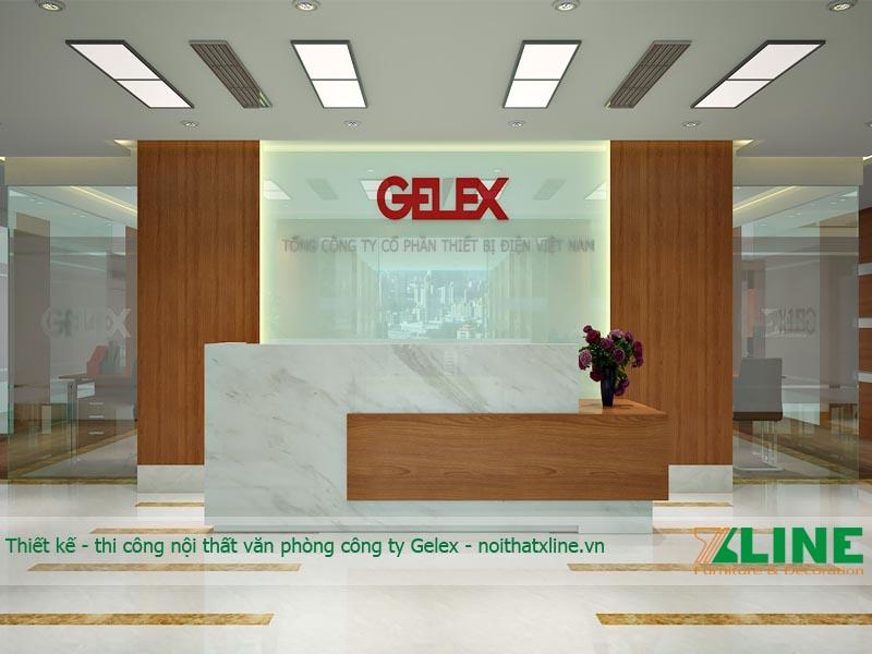 Thiết kế – sản xuất đồ gỗ nội thất văn phòng Gelex