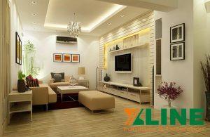 Thi công nội thất chung cư nhỏ ưu tiên những gam màu sáng, tạo sự thoáng rộng cho gian phòng