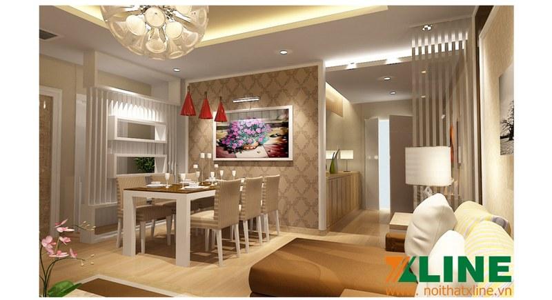 Thi công nội thất chung cư nhà anh Hải (Hoàng Hoa Thám – Hà Nội)