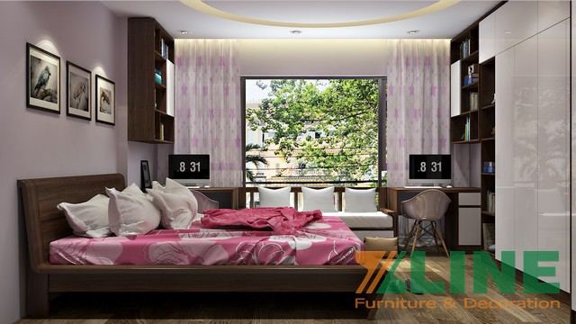 Thiết kế thi công nội thất biệt thự chị Trà, Định Công