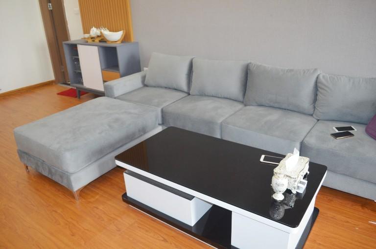Mẫu sofa nỉ đẹp nhà anh Dũng Mỹ Đình