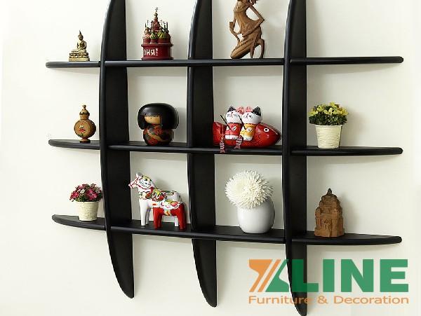 Giá kệ treo tường kệ trang trí giá sách đẹp dạng lưới