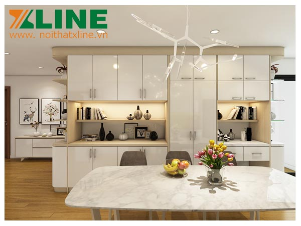 Thiết kế thi công nội thất chung cư Golden Field chị Dương