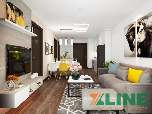 Hoàn thiện giá thiết kế nội thất chung cư anh Hiếu Gold Place