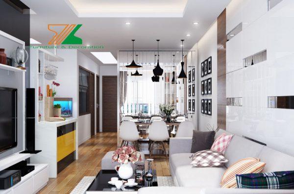 Mẫu thiết kế nội thất chung cư 70m2 bới NỘI THẤT XLINE