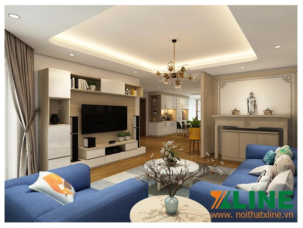 mẫu nội thất căn hộ chị Dương dự án Gold Palace