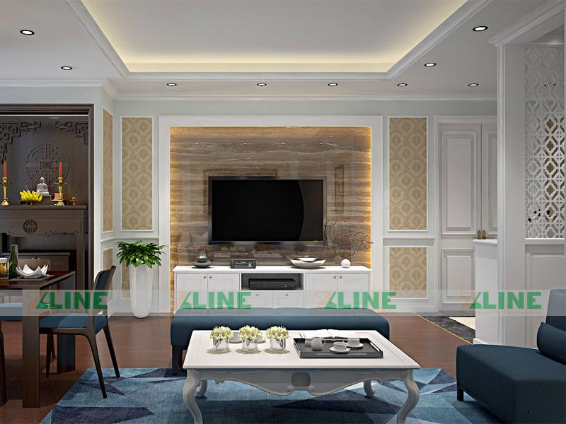 nội thất chung cư phong cách tân cổ điển