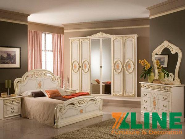 Nội thất phòng ngủ cao cấp phong cách Châu Âu