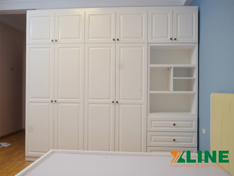 Bộ phòng ngủ màu trắng đẹp cao cấp