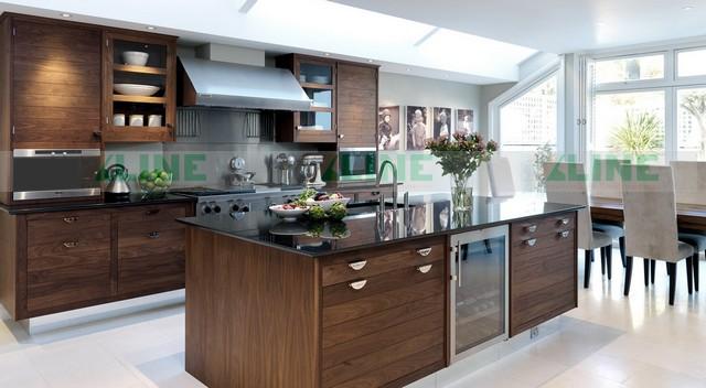 Mẫu tủ bếp gỗ óc chó TB-XL1