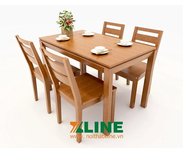 bàn ăn gỗ sồi mỹ