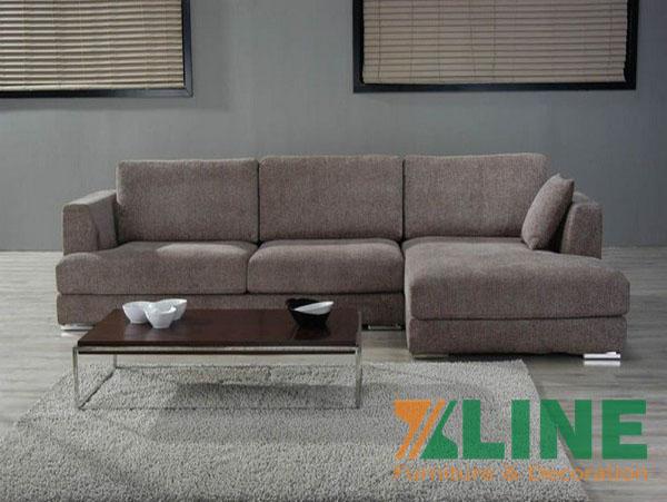 mẫu sofa nỉ góc
