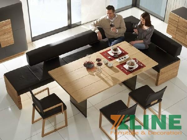 Bộ bàn ghế ăn gỗ công nghiệp