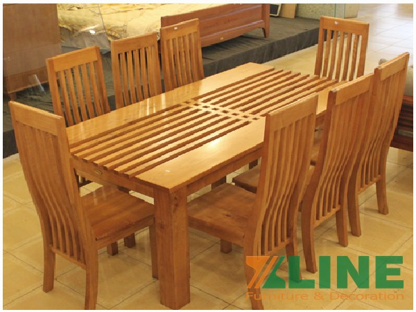 Bộ bàn ghế ăn gỗ xoan đào