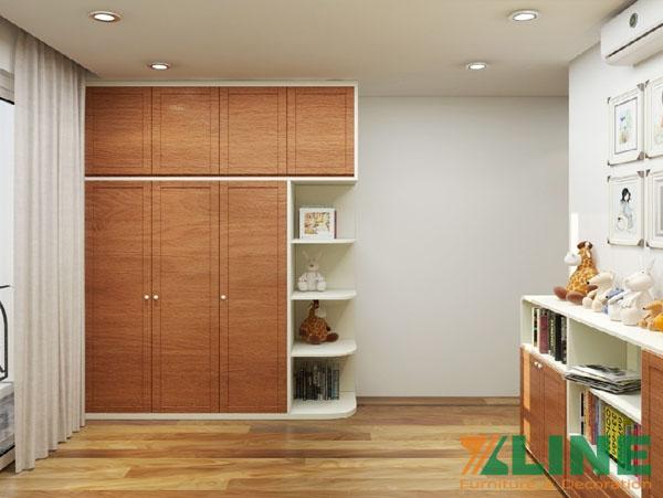tủ gỗ đựng quần áo giá rẻ