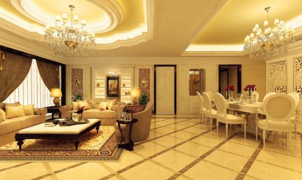 Mẫu thiết kế nội thất chung cư phong cách Tân Cổ Điển