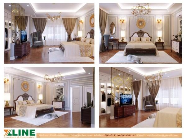 Thiết kế thi công nội thất chung cư tân cổ điển cao cấp