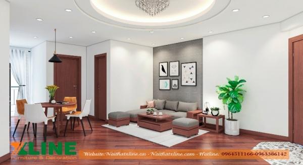 Báo giá thi công nội thất phòng khách chung cư