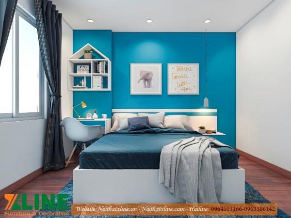 Thi công nội thất chung cư phòng ngủ nhỏ