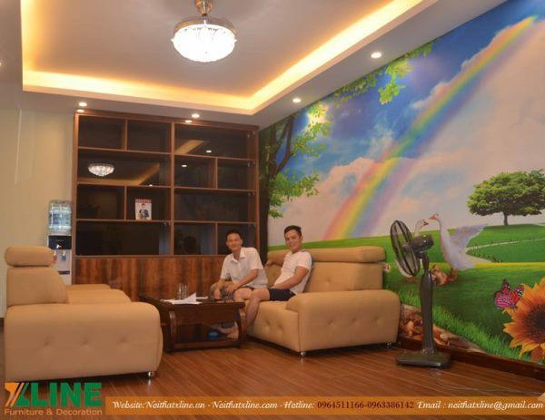KTS Nội thất Xline bàn giao nghiệm thu hoàn thiện chung cư nhà nghệ sỹ chèo Cao Ngọc Sơn