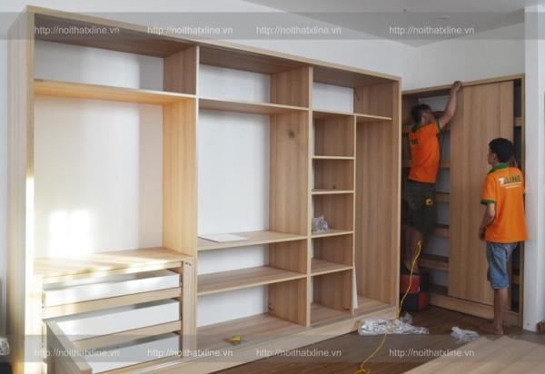 Thợ thi công nội thất chung cư hoàn thiện lắp đặt