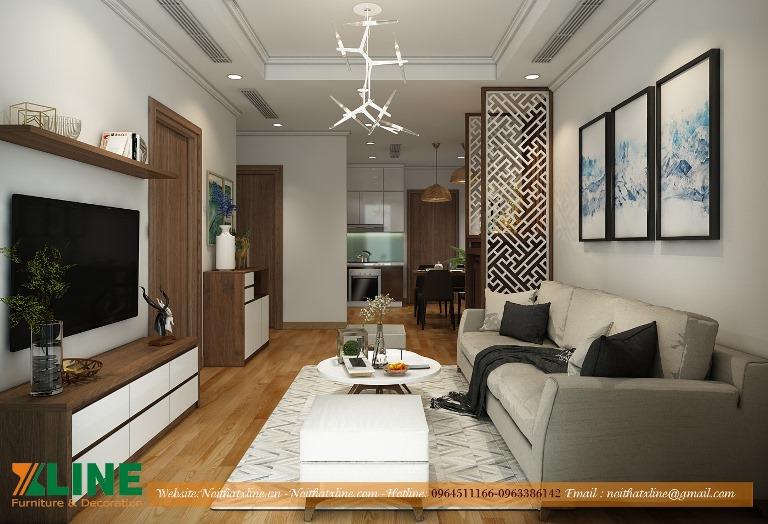 Thiết kế thi công nội thất phòng khách chung cư