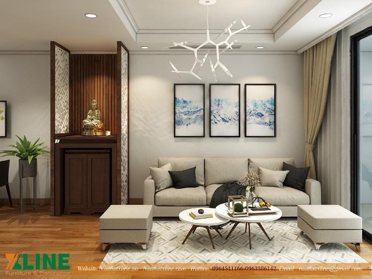 Thiết kế thi công nội thất Hà Nội nhà anh Tú Time City