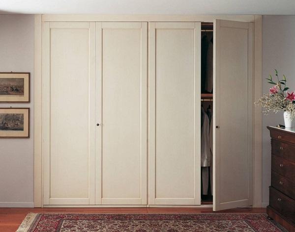 Mẫu tủ quần áo âm tường chất liệu gỗ Sồi hiện đại
