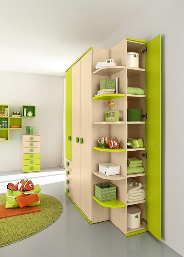 Mẫu tủ đựng quần áo chất liệu gỗ sang trọng cho phòng ngủ của bé