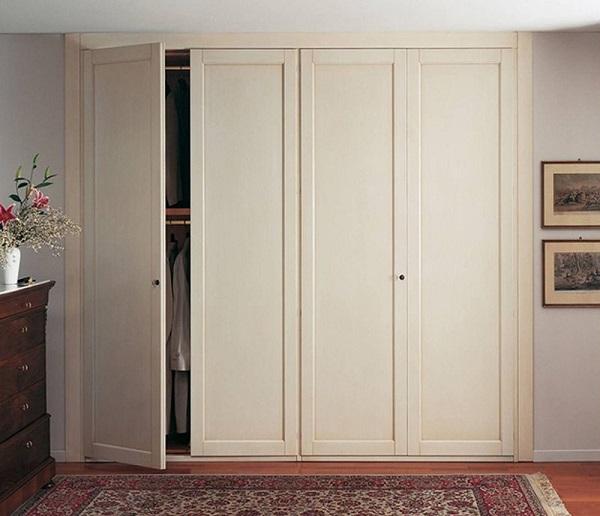 Tủ gỗ quần áo mang phong cách thiết kế kiểu Hàn Quốc