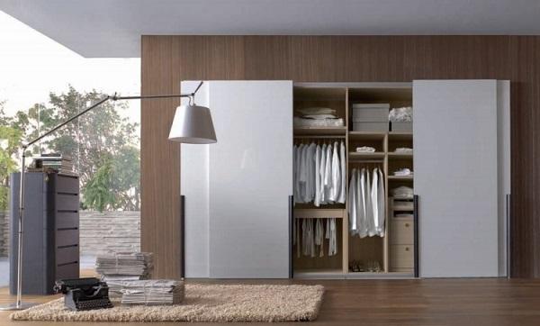 Mẫu tủ cửa lùa hiện đại cho căn phòng nhỏ linh hoạt
